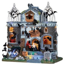 15192 - Vampire Bat Aviary, with 4.5v Adaptor - Lemax Spooky Town Halloween Village Houses & Buildings