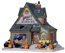 15193 - Grimsley's House of Halloween Decor - Lemax Spooky Town Halloween Village Houses & Buildings