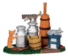 14354 - Butter Churn & Milk Cans - Lemax Christmas Village Misc. Accessories