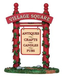 14363 - Shop Signs - Lemax Christmas Village Misc. Accessories
