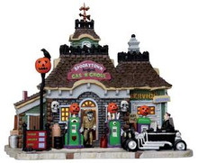15194 - Spookytown Gas 'N Ghoul - Lemax Spooky Town Halloween Village Houses & Buildings
