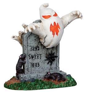 22006 - Tomb Sweet Tomb  - Lemax Spooky Town Halloween Village Figurines
