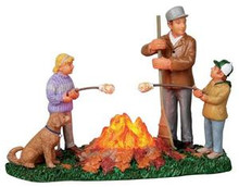 14338 - Burning Leaves, Battery-Operated (4.5v) - Lemax Christmas Village Table Pieces