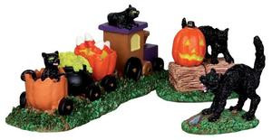 22023 - Trick-or-Treat Train, Set of 3  - Lemax Spooky Town Halloween Village Figurines