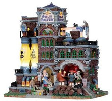 15208 - Grinning Goblin Brewery, with 4.5v Adaptor - Lemax Spooky Town Halloween Village Houses & Buildings