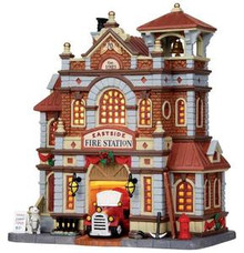15262 - Eastside Fire Station - Lemax Caddington Village Christmas Houses & Buildings