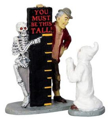 22008 - You Must Be This Tall…, Set of 2  - Lemax Spooky Town Halloween Village Figurines