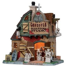 15198 - Gargoyle Sculptors Studio - Lemax Spooky Town Halloween Village Houses & Buildings