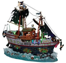 15210 - S.S. Specter, with 4.5v Adaptor - Lemax Spooky Town Halloween Village Houses & Buildings