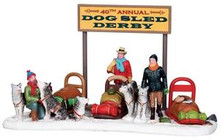 23954 - Dog Sled Derby  - Lemax Christmas Village Table Pieces