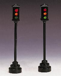24781 -  Traffic Light, Set of 2 (Multiface), Battery-Operated (4.5v) - Lemax Christmas Village Misc. Accessories