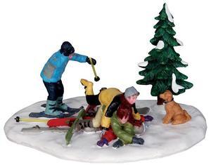 23958 - Ski Pile-Up  - Lemax Christmas Village Table Pieces