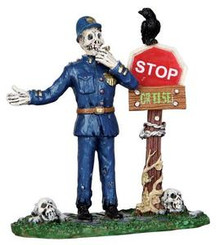 22010 - Spookytown Traffic Guard  - Lemax Spooky Town Halloween Village Figurines