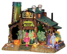 15202 - Rave at Grave's, with 4.5v Adaptor - Lemax Spooky Town Halloween Village Houses & Buildings