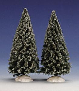 24735 - Spruce Tree, Set of 2, Small - Lemax Christmas Village Trees