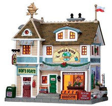 15229 - World Wide Travel - Lemax Plymouth Corners Christmas Houses & Buildings