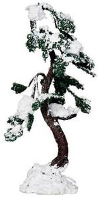 24514 - Snowy Buckeye Tree, Large - Lemax Christmas Village Trees