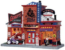 25383 - Gordy's Cycle Shop  - Lemax Jukebox Junction Christmas Houses & Buildings