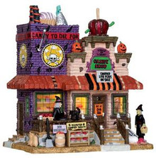 25328 - Trick or Treat Candy Shop  - Lemax Spooky Town Halloween Village Houses & Buildings