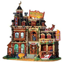 25321 - Werewolf Grooming & Night Spa, with 4.5v Adaptor  - Lemax Spooky Town Halloween Village Houses & Buildings