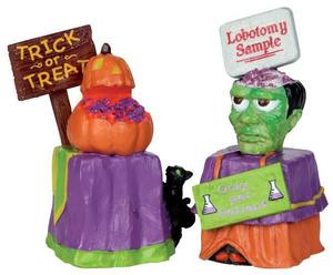 24465 - Trick or Treat Container  - Lemax Spooky Town Halloween Village Accessories