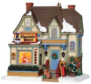 25409 - Chocolate Swirl  - Lemax Vail Village Christmas Houses & Buildings
