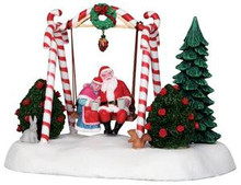 24479 - Santa Swing, Battery-Operated (4.5v)  - Lemax Christmas Village Table Pieces