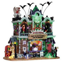 25324 - Heebie-Jeebie's Rock Club, with 4.5v Adaptor  - Lemax Spooky Town Halloween Village Houses & Buildings
