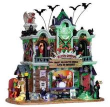 25324 - Heebie-Jeebie's Rock Club, with 4.5v Adaptor  - Lemax Spooky Town Halloween Village Houses & Buildings