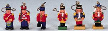 44201 - Lemax Christmas Tree Decoration, Set of 6 Nutcrackers - Lemax Christmas Village Trees