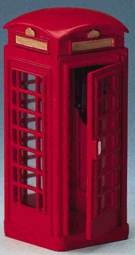 44176 -  Telephone Booth - Lemax Christmas Village Misc. Accessories