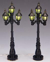 34902 -  Old English Street Lamps Battery-Operated (4.5v) - Lemax Christmas Village Misc. Accessories