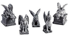 52124 -  Gargoyles, Set of 5 - Lemax Spooky Town Halloween Village Figurines