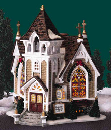 45069 - Little River Church - Lemax Harvest Crossing Christmas Houses & Buildings