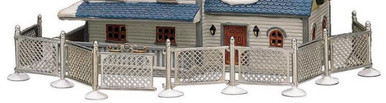 64135 -  Metal Fence, Set of 9 - Lemax Christmas Village Misc. Accessories