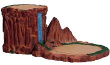 74689 -  Waterfall Display Platform - Lemax Christmas Village Landscape Items
