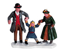 62313 -  Learning to Skate - Lemax Christmas Village Figurines