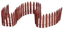 "84813 -  18"" Wired Wooden Fence - Lemax Christmas Village Misc. Accessories"