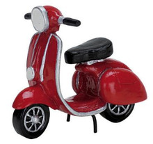 74610 -  Red Mopeds - Lemax Christmas Village Misc. Accessories