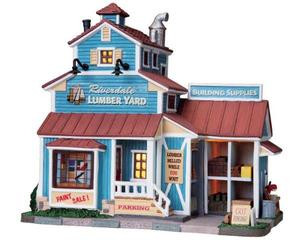 85690 - Riverdale Lumber Yard - Lemax Harvest Crossing Christmas Houses & Buildings