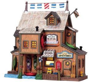 85710 -  White Water Kayaks - Lemax Plymouth Corners Christmas Houses & Buildings