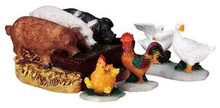 92613 - The Hog Trough, Set of 4 - Lemax Christmas Village Figurines