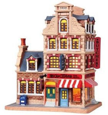 85722 - Block & Cleaver Butcher Shop - Lemax Vail Village Christmas Houses & Buildings