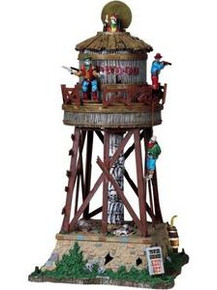 84765 - Deadwood Water Tower, with 4.5v Adaptor - Lemax Spooky Town Halloween Village Houses & Buildings