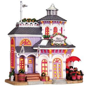85740 -  Rose's Flower Emporium - Lemax Plymouth Corners Christmas Houses & Buildings