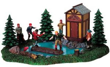 93748 -  Log Rollin' Break - Lemax Christmas Village Table Pieces