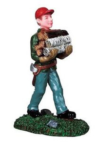 92628 -  Fuel for the Fire - Lemax Christmas Village Figurines