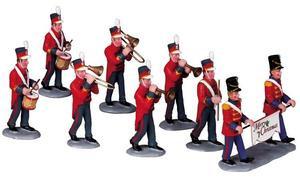 93766 - Christmas Parade Marching Band, Set of 8 - Lemax Carnival Series