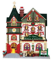 15249 - St. Stephen Facade, Battery-Operated - Lemax Christmas Village Facades