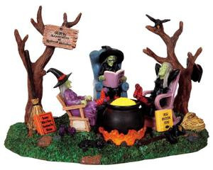 retired witches 3v lemax spooky town halloween